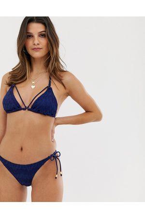 Dorina Majorca crochet bikini bottom in navy