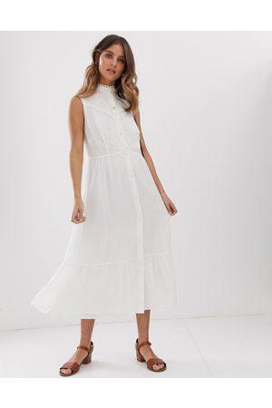 Stevie May Aralia sleeveless midi dress with lace insert