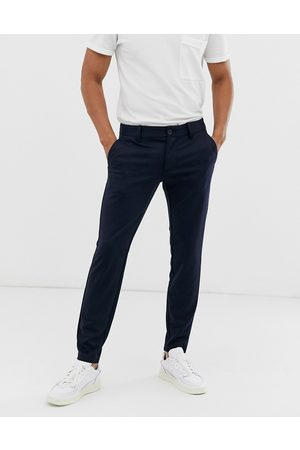 Only & Sons Slim tapered fit pants in navy