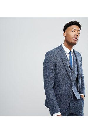 ASOS ASOS TALL Slim Suit Jacket in 100% Wool Harris Tweed In Mini Check
