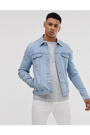 ASOS Skinny western denim jacket in bleach wash