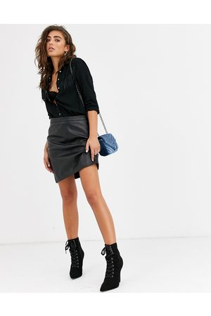 Object Leather mini skirt