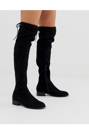Public Desire Elle flat over the knee boots in
