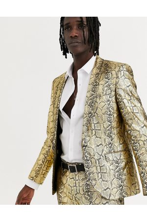 Twisted Tailor Skinny suit jacket in snake print