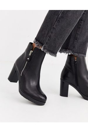 Aldo Giolia side zip leather heel boot