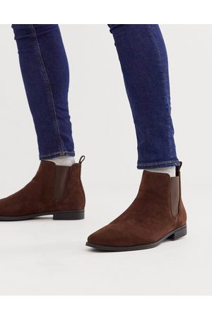 ASOS DESIGN Chelsea boots in faux suede