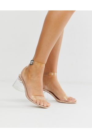 Public Desire Afternoon mid clear heeled sandals