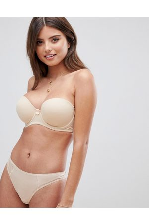 Pour Moi Definitions strapless bra in oatmeal