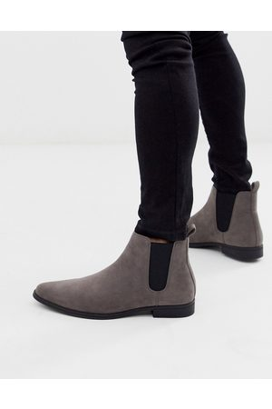 ASOS Chelsea boots in faux suede