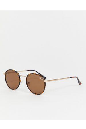 Quay Australia Omen round sunglasses in tort