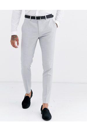 ASOS Wedding super skinny suit pants in ice micro texture