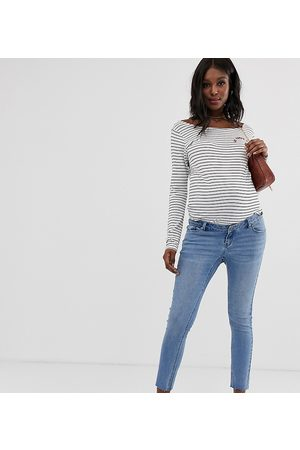 Bandia Maternity ankle grazer skinny jeans with removable band