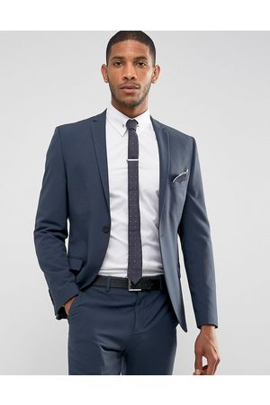 Selected Super Skinny Suit Jacket In Stretch In Navy