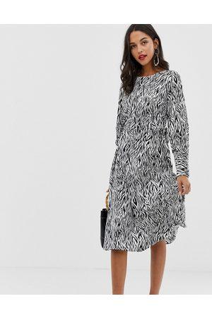 Vila Zebra print midi dress-Multi