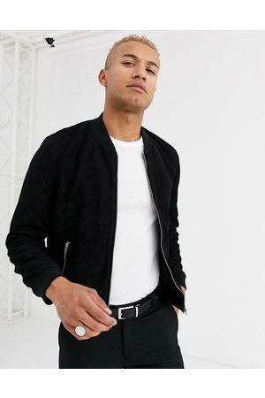 ASOS Suede bomber jacket in