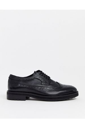 ASOS Brogue shoes in leather with chunky sole