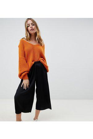 ASOS ASOS DESIGN Petite plisse culotte pants