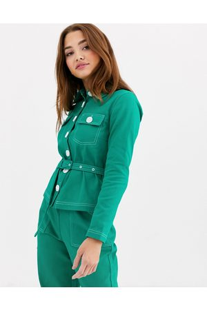 The East Order Frida belted shirt two-piece
