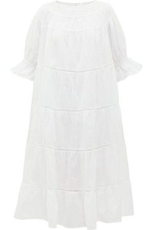 MERLETTE Women Midi Dresses - Paradis Tiered Cotton Midi Dress - Womens