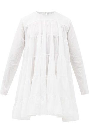MERLETTE Women Party Dresses - Soliman Tiered Cotton Mini Dress - Womens
