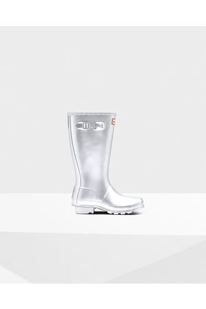 Hunter Original Big Kids Metallic Rain Boots