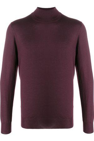BARBA Plain turtleneck jumper