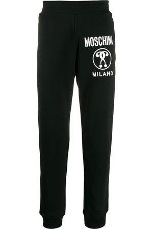 Moschino Men Sweatpants - Question logo track pants