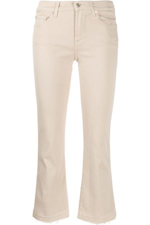 7 for all Mankind Women Slim - Slim-fit cropped jeans - Neutrals