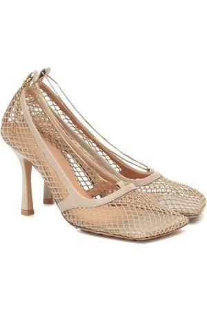 Bottega Veneta Women Heels - Mesh and leather pumps