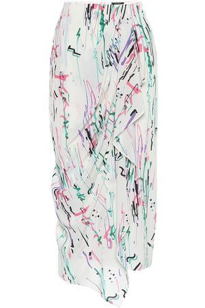 Isabel Marant Fabiana stretch-silk midi skirt