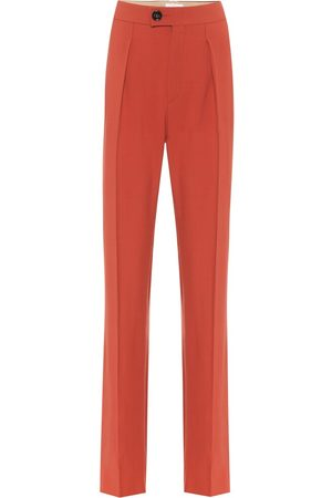 Chloé High-rise straight wool-blend pants