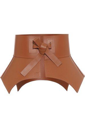 Loewe Leather corset belt