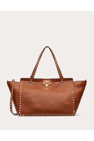 VALENTINO GARAVANI Medium Rockstud Grainy Calfskin Bag Women Saddle 100% Pelle Di Vitello - Bos Taurus OneSize