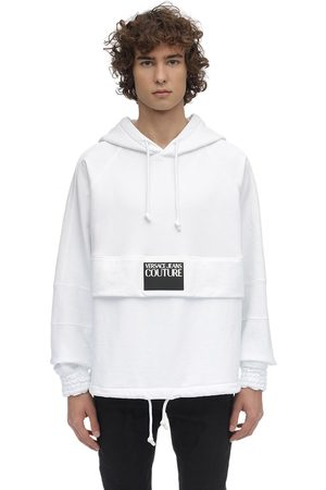 VERSACE Oversized Logo Cotton Sweatshirt Hoodie