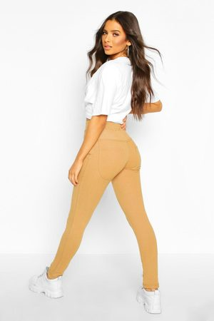 Boohoo Womens Bum Lifting Pocket Basic Jeggings - - S