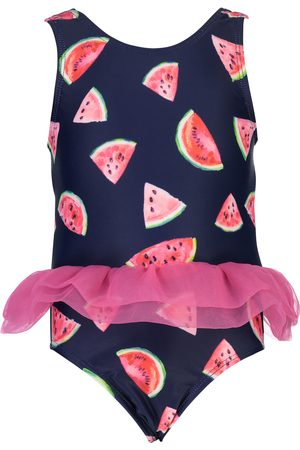 Snapper Rock Infant Girl's Skirted Watermelon Print One-Piece Swimsuit