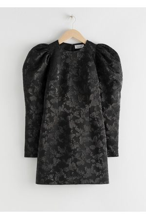 & OTHER STORIES Puff Sleeve Mini Jacquard Dress