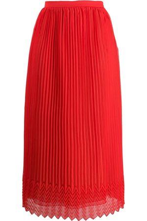 MARCO DE VINCENZO High-waist pleated skirt