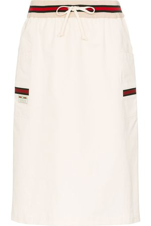 Gucci Web stripe-detail skirt