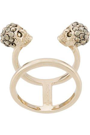 Alexander McQueen Women Rings - Twin Skull double ring
