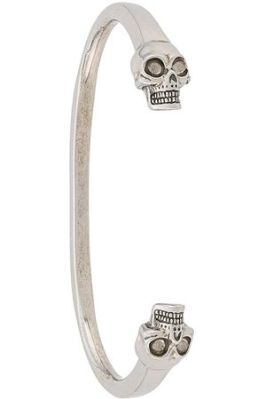 Alexander McQueen Skulls cuff - Metallic