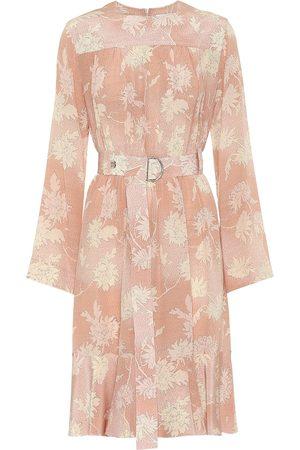 Chloé Floral silk-satin dress