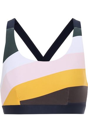 The Upside Sunrise Lottie striped sports bra