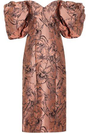 JOHANNA ORTIZ Synchronicity silk-blend midi dress