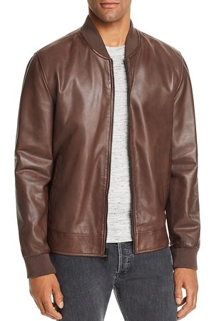 Cole Haan Men Leather Jackets - Reversible Leather Bomber Jacket