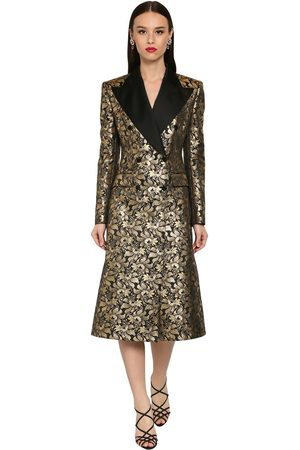 Dolce & Gabbana Double Breast Jacquard Lamé Coat
