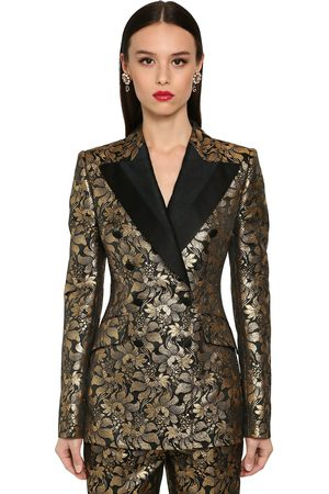 Dolce & Gabbana Double Breast Lamé Jacquard Jacket
