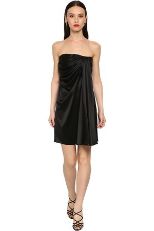 Dolce & Gabbana Off The Shoulder Silk Satin Mini Dress