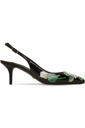Dolce & Gabbana 70mm Printed Leather Slingback Pumps
