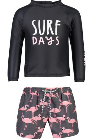 Snapper Rock Infant Boy's Surf Days Two-Piece Rashguard Swimsuit